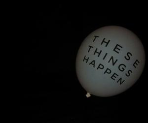 grunge, balloons, and dark image