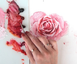 rose, art, and painting image