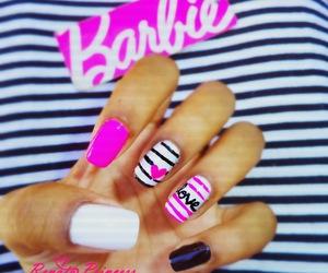 barbie, beautiful, and nail art image