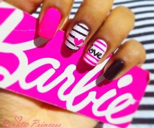 barbie, nail art, and nails image