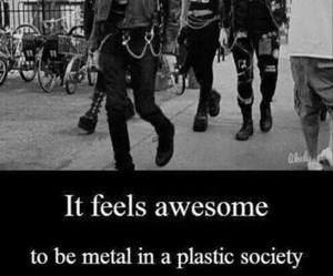metal, rock, and society image