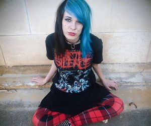 alt girl, alternative, and blue hair image