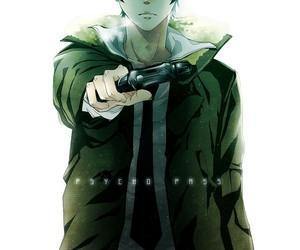 psycho pass, anime, and shinya kogami image