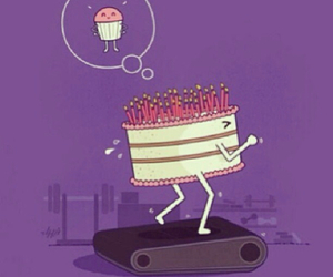 cake, cupcake, and funny image