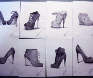art, high heels, and beautiful image