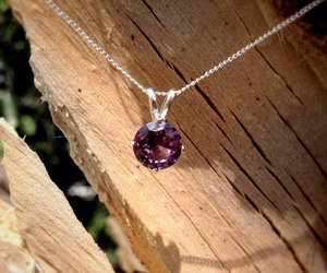 color change, purple necklace, and bridesmaids gifts image