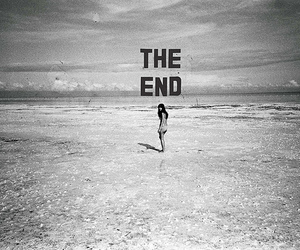 the end, end, and beach image