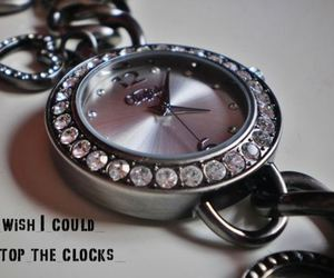 clock, watch, and silver image