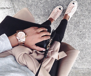 beige, coat, and chic image
