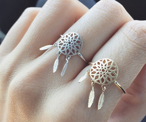 rings, ring, and silver image