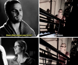 arrow, Felicity, and love image