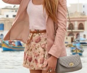 bag, belt, and rose color image