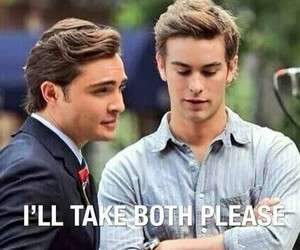 chuck bass, gossip girl, and nate image