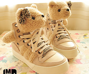 shoes, teddy, and cute image