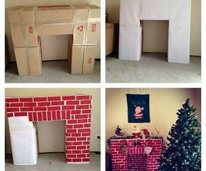 christmas, diy, and fireplace image