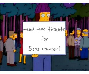 simpson, the simpsons, and tickets image
