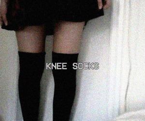grunge, knee socks, and black image