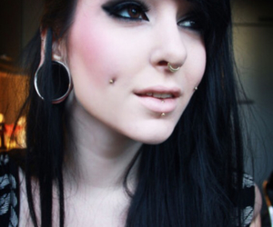 piercing, girl, and septum image