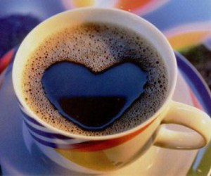 heart, coffee, and coffe image