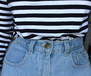 grunge, jeans, and stripes image