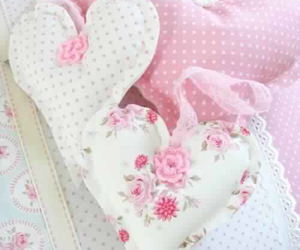 pink, hearts, and pastel image