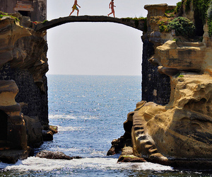 sea, bridge, and summer image