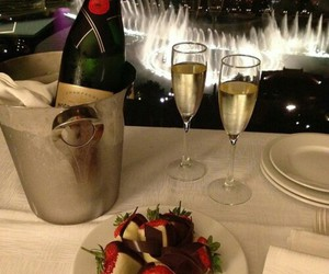 champagne, luxury, and chocolate image