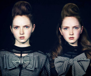 Lily Cole, fashion, and twins image