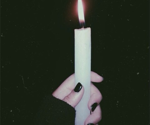 black, candle, and grunge image