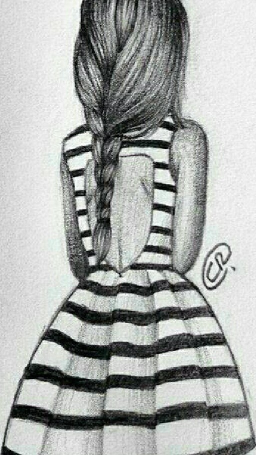 Fille De Dos Dessin Uploaded By Laëtitia On We Heart It