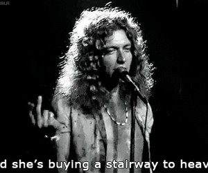 led zeppelin, stairway to heaven, and robert plant image