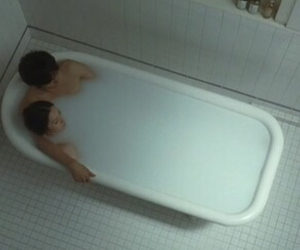 love, bath, and couple image