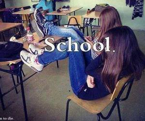 school and friends image