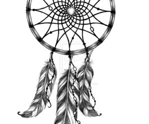 dream catcher, Dream, and feather image