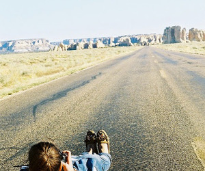 girl, road, and adventure image