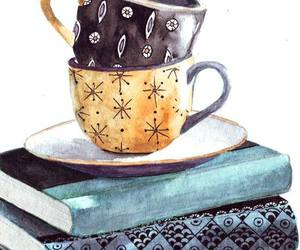 book, art, and coffee image