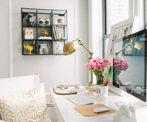 room, flowers, and white image