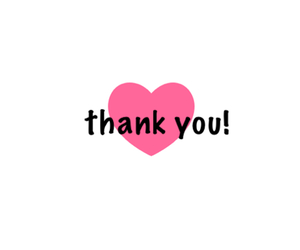 heart, save, and thank you image