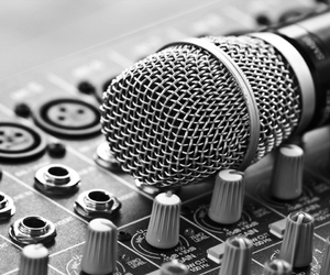 music, microphone, and sing image
