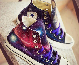 converse, galaxy, and hipster image