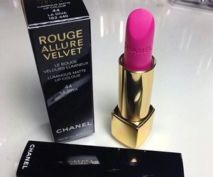 lipstick, chanel, and pink image