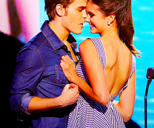 Nina Dobrev, paul wesley, and tvd image