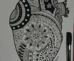 art, blackandwhite, and doodle image