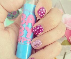 nails, makeup, and baby lips image