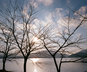 film, japan, and mountains image