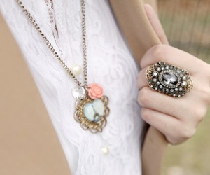 fashion, necklace, and pastel image