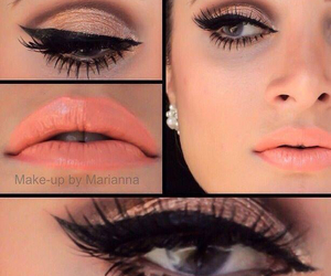 makeup, cute, and love image
