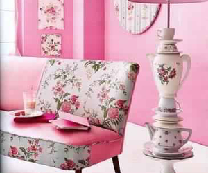 pink, home, and lamp image