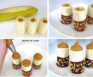 banana, food, and chocolate image