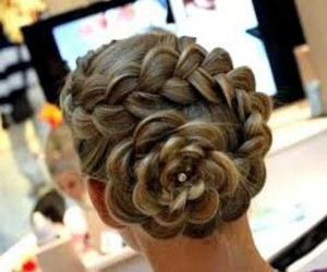 hairstyle, flower, and hair image
